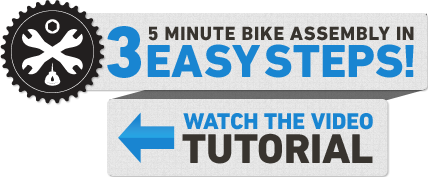 assemble your bike in 3 easy steps